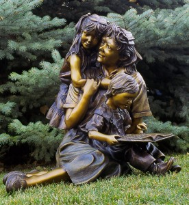 More Than Words bronze sculpture by Colorado artist Greg Todd