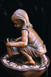Little Ray of Sunshine bronze sculpture by Colorado artist Greg Todd