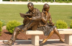 Seekers of Knowledge bronze sculpture by Colorado artist Greg Todd