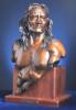 Renegade, bronze portrait, realistic sculpture by Greg Todd