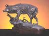 Timber Watch, bronze sculpture of a wolf, by Greg Todd