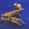 Critter n' Corn, wildlife sculpture by Greg Todd