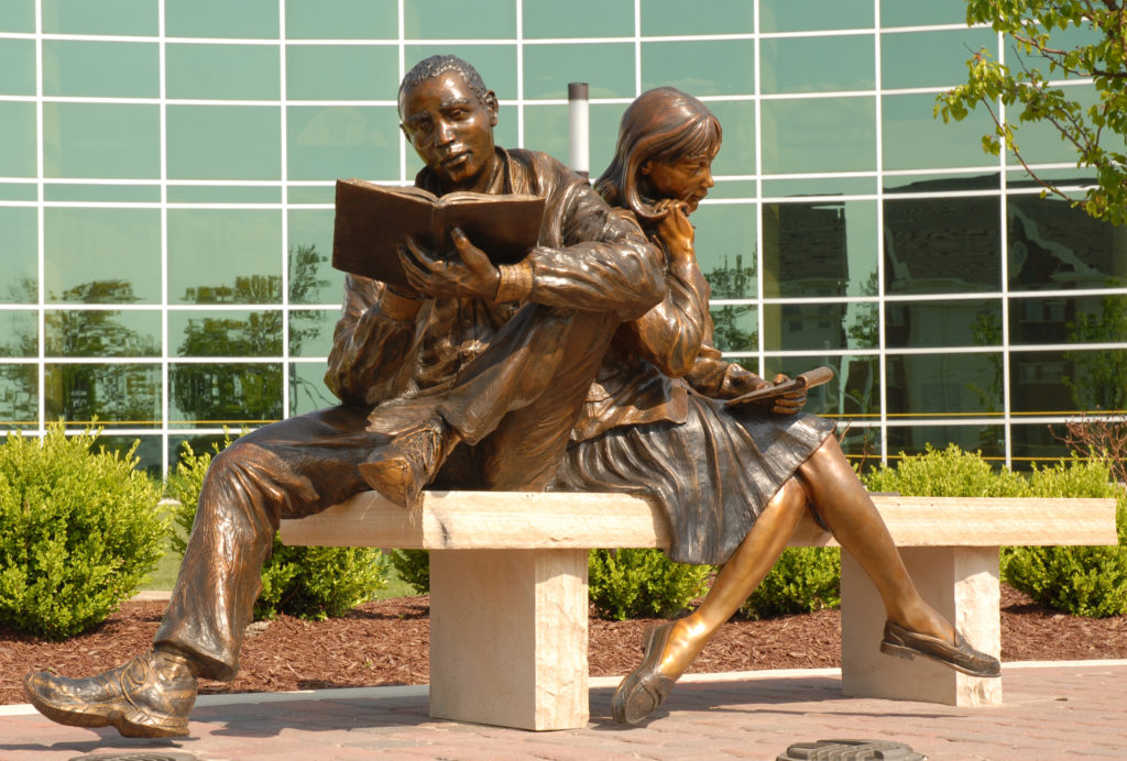 Seekers of Knowledge, bronze sculpture by Greg Todd
