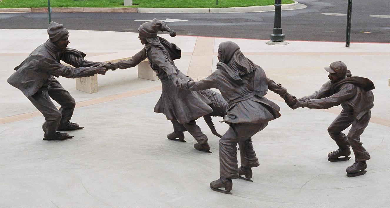 Life on the Wild Slide bronze sculpture by Colorado artist Greg Todd