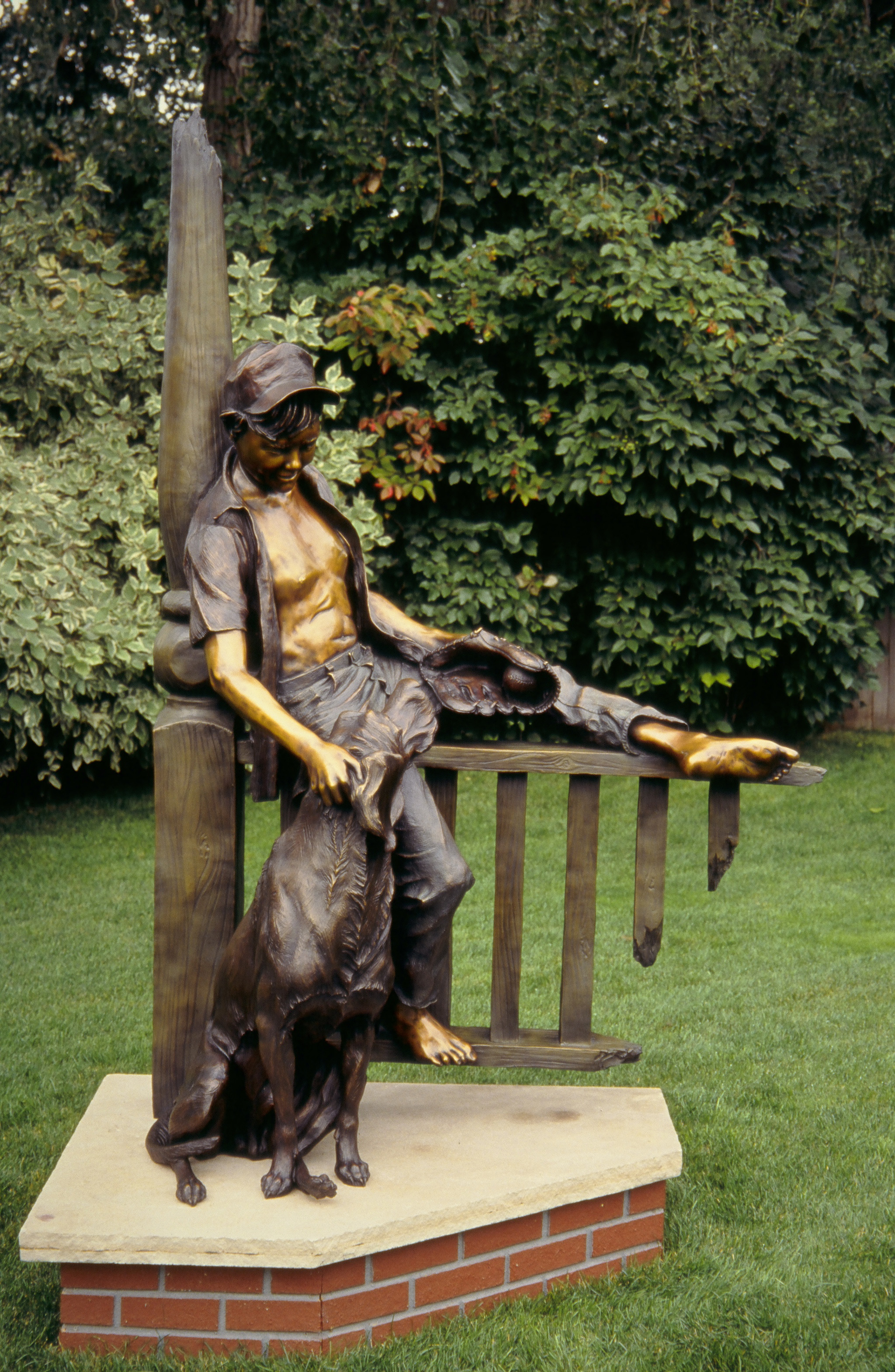 Best Friends bronze sculpture by Colorado artist Greg