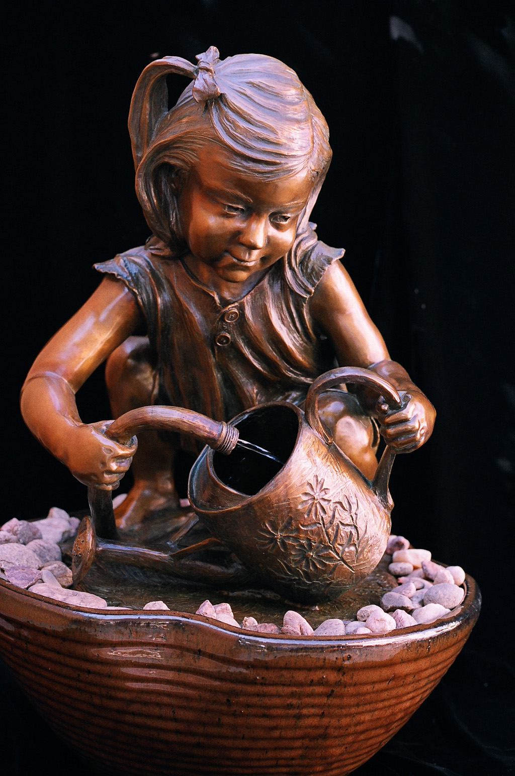 Little Ray of Sunshine bronze sculpture by Colorado artist Greg Todd